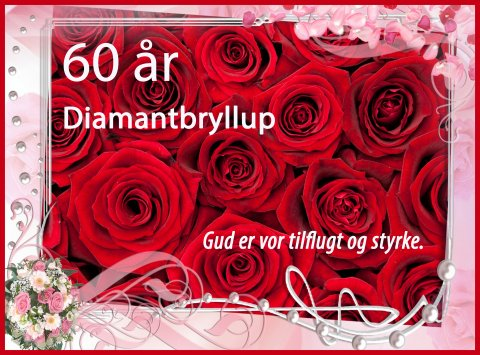 60 år - Diamantbryllup